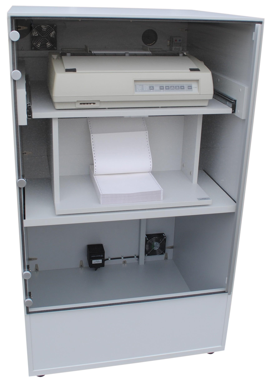 Beheizbarer Druckerschrank MATRIXHEAT für Nadeldrucker inkl. Staubschutz