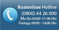 Rufen Sie uns kostenlos an. 0800 44 26 000